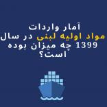 آمار واردات  مواد اولیه لبنی در سال 1399 چه میزان بوده است؟(اینفوگرافی)